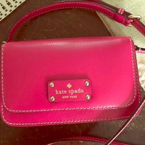 Hot Pink Authentic Kate Spade Leather bag purse